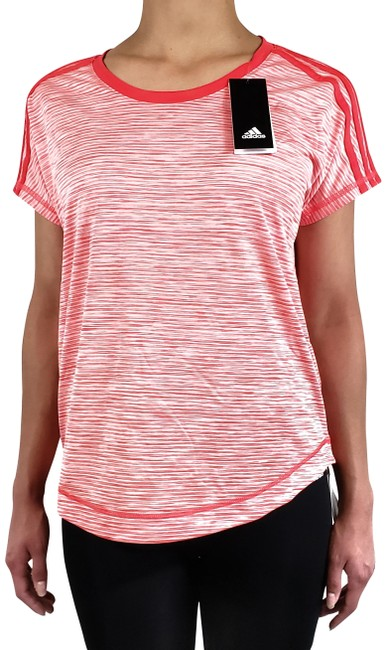 Item - Red/Pink Climalite Women's Striped Activewear Top Size 8 (M)