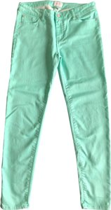 Celebrity Pink Skinny Pants Lucite Green