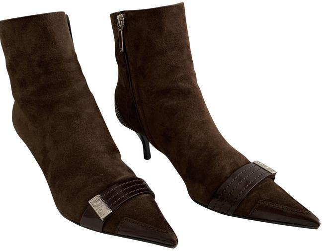 Item - Brown Sued Leather Mix Boots/Booties Size EU 39 (Approx. US 9) Regular (M, B)