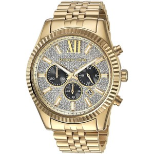 Michael Kors Lexington Stainless Steel Pave Crystal Chronograph Mk8494