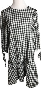 New Look short dress Black and White Check on Tradesy