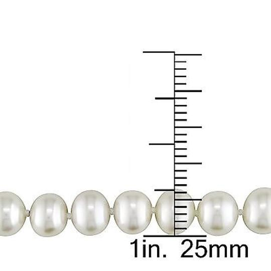 Other 6-6. 5mm White Freshwater White Potato Pearl Strand Necklace 18