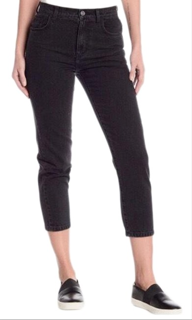 Item - Gray Distressed Felder Slim Fit Black Capri/Cropped Jeans Size 00 (XXS, 24)