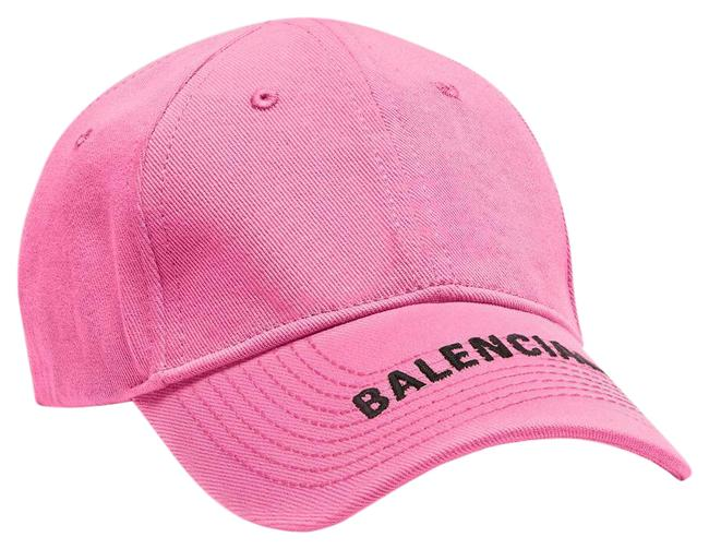 Item - Pink Unisex Classic Logo Cap In and Black Embroidered Cotton Hat