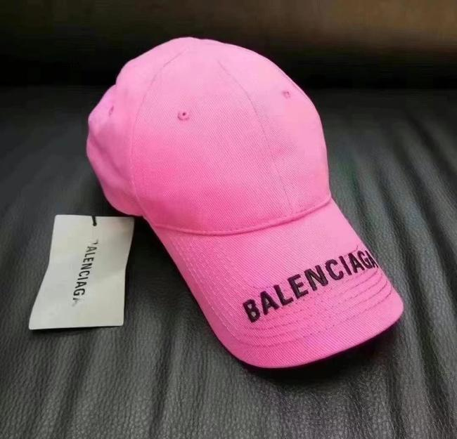 Balenciaga Pink Unisex Classic Logo Cap In and Black Embroidered Cotton Hat Balenciaga Pink Unisex Classic Logo Cap In and Black Embroidered Cotton Hat Image 4