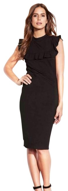 Item - Black Head Over Heels Body-con Mid-length Cocktail Dress Size 2 (XS)