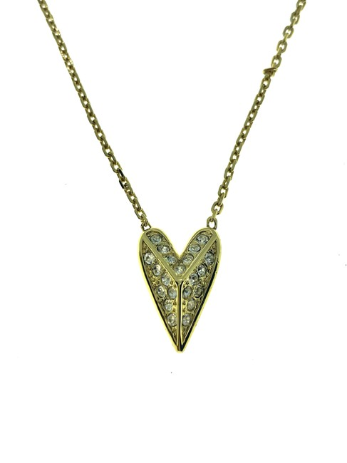Item - Gold Heart Pave Necklace