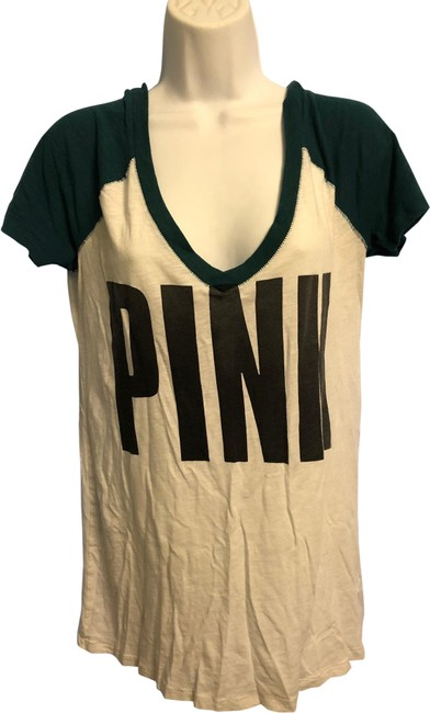 Item - White and Dark Green By Victoria's Secret Tee Shirt Size 14 (L)