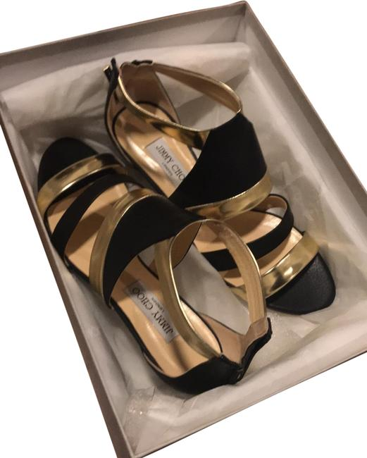 Item - Black/Gold New Wedges Size EU 39.5 (Approx. US 9.5) Regular (M, B)