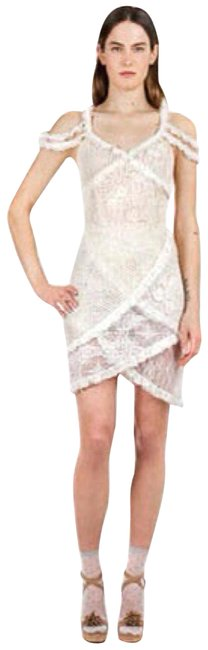 Item - Ivory X Opening Ceremony Layered Ruffle Lace Off Shoulder Short Cocktail Dress Size 4 (S)