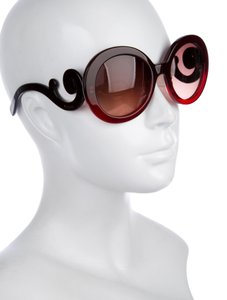 Prada PRADA Red Baroque Gradient Sunglasses