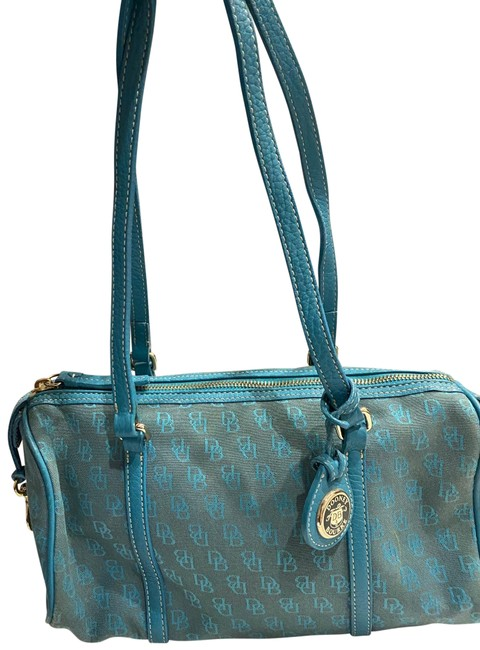 Item - Barrel Satchal Turquoise Canvas Shoulder Bag