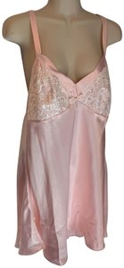lily of france short dress pink Satin Slip Lingerie Baby Doll on Tradesy