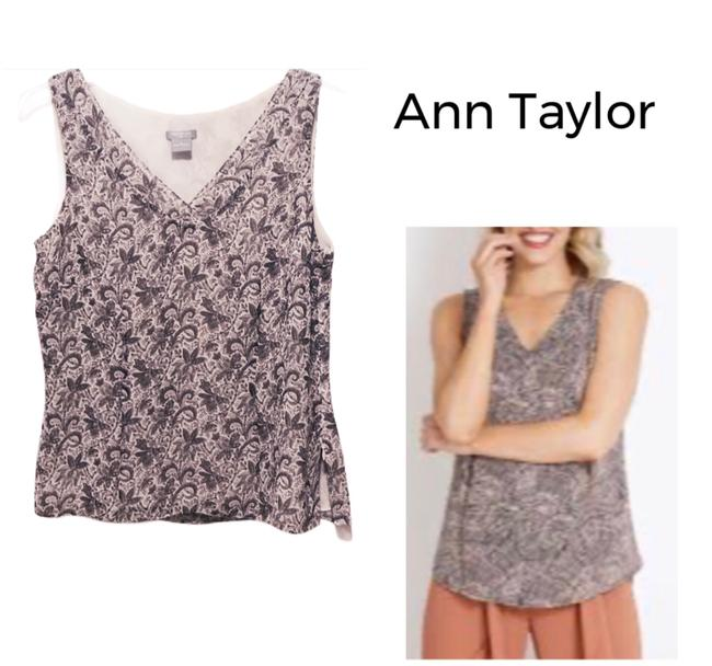 Item - Ivory & Lavander Paisley Tank Top/Cami Size 2 (XS)