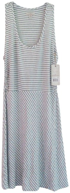 Item - Multi-color Pinstriped Scoop Neck Racerback Fit & Flare Active Style No. Thn107st Short Casual Dress Size 10 (M)