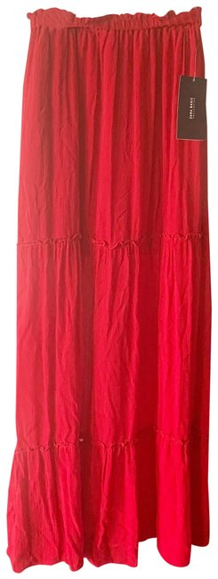 Item - Red High Waisted Skirt Size 2 (XS, 26)