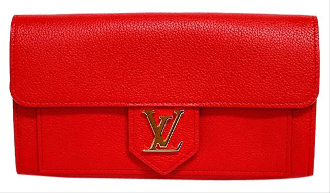 Louis Vuitton Ruby / Ruby / Ruby Portofeuil Lock Me M61277 Folded Soft Calf Leather Ladies Wallet Louis Vuitton Ruby / Ruby / Ruby Portofeuil Lock Me M61277 Folded Soft Calf Leather Ladies Wallet Image 1