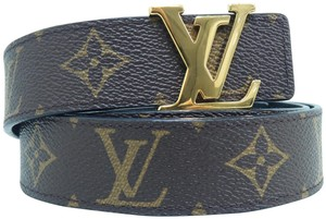 Louis Vuitton Louis Vuitton Brown Initiales 30mm Reversible Belt