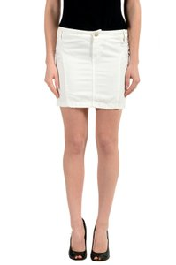 Versace Jeans Collection Mini Skirt White