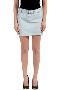Versace Jeans Collection Mini Skirt Light Blue