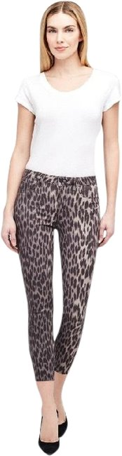 Item - Black and Grey Margot High Rise Leopard Skinny Jeans Size 2 (XS, 26)