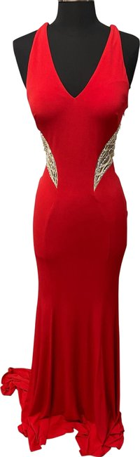 Item - Red P2481 Long Formal Dress Size 4 (S)