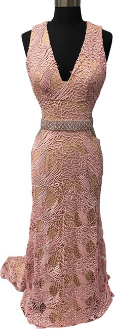 Item - Pink/ Nude 1712p2461 Long Formal Dress Size 4 (S)