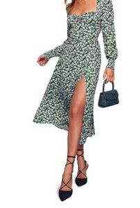 green Maxi Dress by Reformation