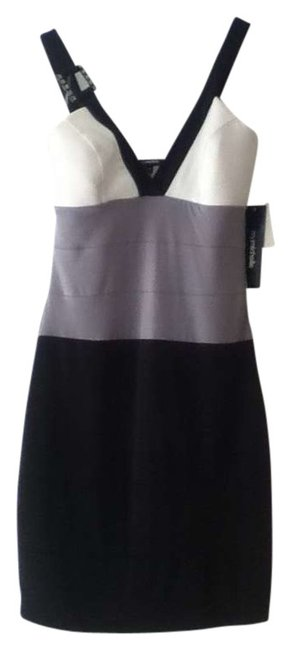 Preload https://item2.tradesy.com/images/my-michelle-bkgy-black-white-grey-jewel-knee-length-cocktail-dress-size-8-m-274046-0-0.jpg?width=400&height=650