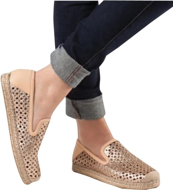 Item - Rose Gold Country Pink Glitter Espadrilles Flats Size US 7.5 Regular (M, B)