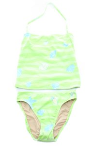 Lilly Pulitzer LILLY PULITZER Tankini Green With Blue Shells