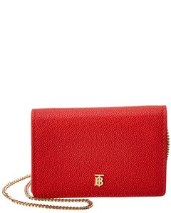 Burberry Burberry Jessie Grainy Leather Card Case On Chain