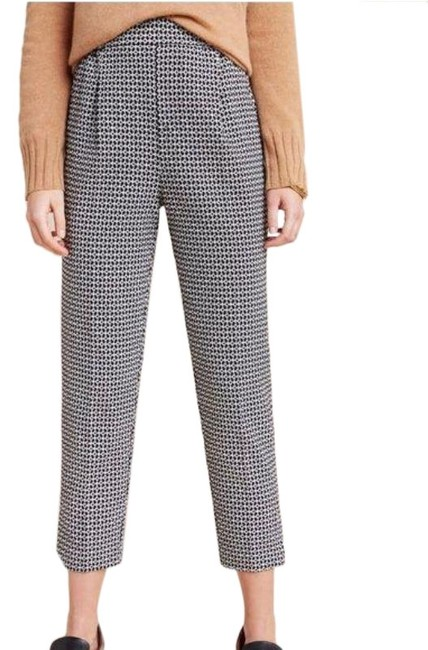 Item - Black & White Print Larkin Jacquard Tapered High Rise Pants Size 2 (XS, 26)