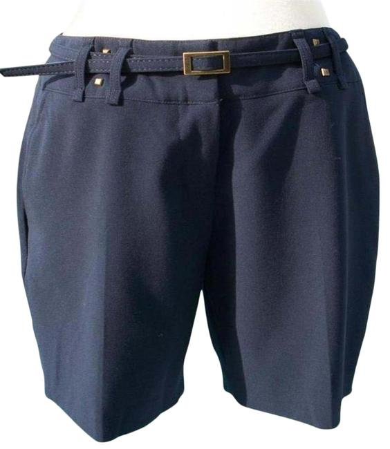 Cache Navy Blue Trouser Removable Belt Pant New Lined Metal Stud 6/8/10 S/M Shorts Size 8 (M, 29, 30) Cache Navy Blue Trouser Removable Belt Pant New Lined Metal Stud 6/8/10 S/M Shorts Size 8 (M, 29, 30) Image 1