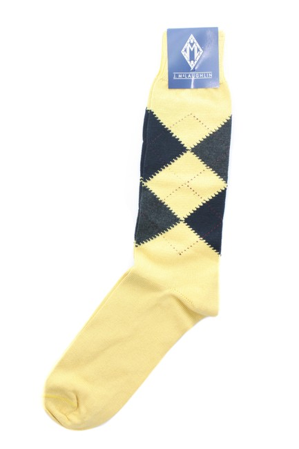 Item - Yellow Multicolor Socks New with Tags