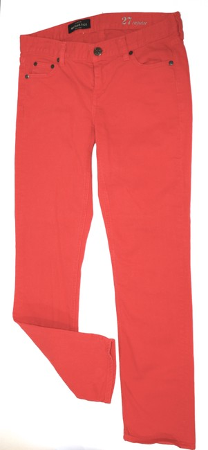 Item - Red Cotton Blend Denim Straight Leg Jeans Size 27 (4, S)