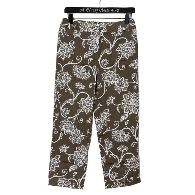 Item - Taupe Floral Stretch Pants Size 4 (S, 27)