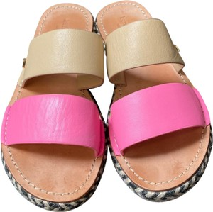 Kate Spade tan, pink, white, and black Sandals