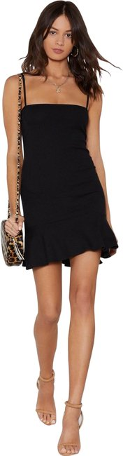 Item - Black Mini Party Lbd Clubbing Short Night Out Dress Size 12 (L)