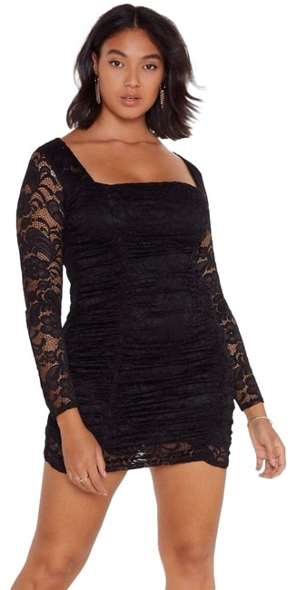 Item - Black Plus Party Clubbing Short Night Out Dress Size 14 (L)