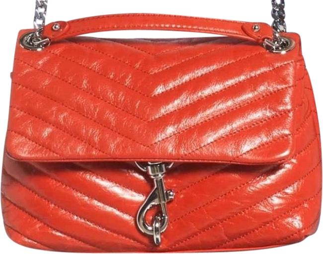 Rebecca Minkoff Edie Red / Tomato Leather Cross Body Bag Rebecca Minkoff Edie Red / Tomato Leather Cross Body Bag Image 1