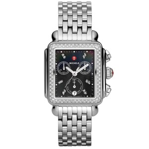 Michele Deco Stainless Steel Black Mother of Pearl Diamond Mww06p000171