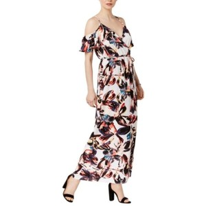 Black Pink Maxi Dress by Bar III Watercolor Cold Shoulder Floral Macy's