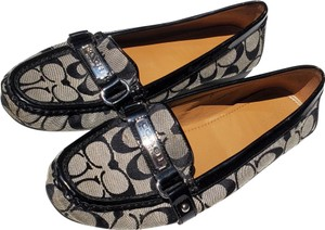 Coach black and white Flats