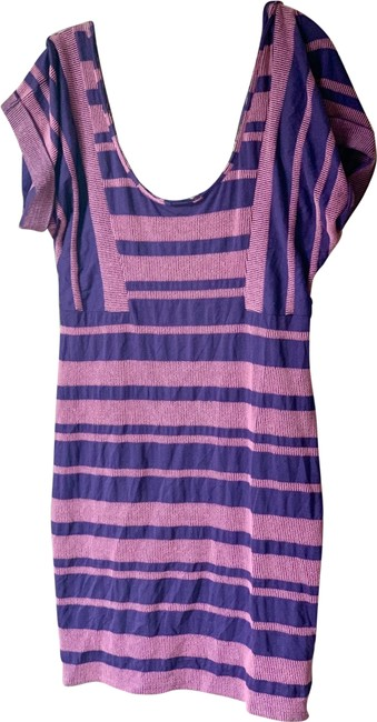 Free People Striped Short Casual Dress Size 12 (L) Free People Striped Short Casual Dress Size 12 (L) Image 1
