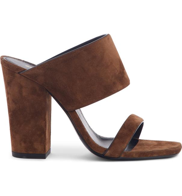 Item - Brown Oak Double Band Slide Suede Leather Sandals Size EU 38.5 (Approx. US 8.5) Regular (M, B)