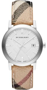 Burberry Burberry Heritage Check Stainless Steel 38mm Unisex Watch BU9025