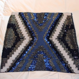 FATE Skirt Blue silver black
