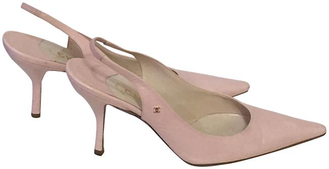 Item - Pastel Pink Leather Slingback Pumps Size EU 37.5 (Approx. US 7.5) Regular (M, B)