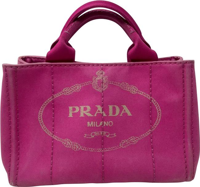Item - Canapa Small Tote Pink Canvas Satchel
